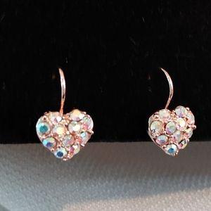 Kirks Folly Aurora Borealis Heart Earrings
